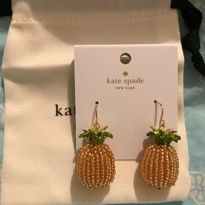 "Kate Spade ""By The Pool"" Pineapple Drop Earrings"